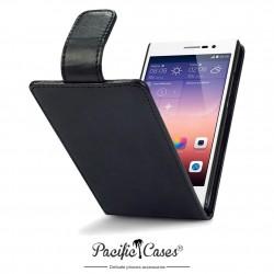 Etui noir clapet pour Huawei Ascend P7
