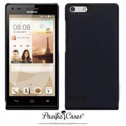 Coque noire touché gomme pour Huawei Ascend P7 Mini