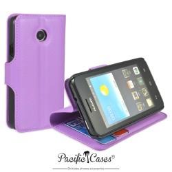 étui mauve pour Huawei Ascend Y330 ouverture folio et fonction stand par Pacific Cases®