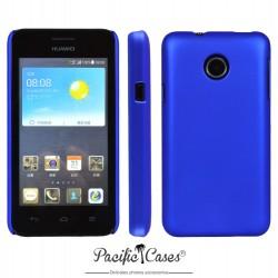 Coque pour Huawei Ascend Y330 touché gomme marque Pacific Cases® - bleu foncé