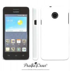 Coque pour Huawei Ascend Y330 touché gomme marque Pacific Cases® - blanc