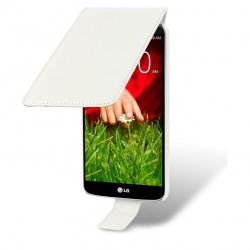 Etui blanc ouverture clapet pour LG G2