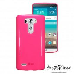 Coque rose translucide pour LG G3