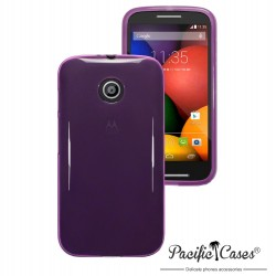 Coque violet translucide pour Motorola Moto E par Pacific Cases