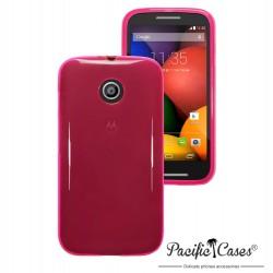 Coque rose translucide pour Motorola Moto E par Pacific Cases