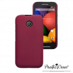 Coque rouge gomme pour Motorola Moto E