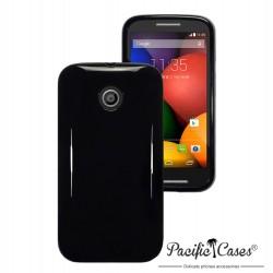 Coque noir brillant pour Motorola Moto E par Pacific Cases