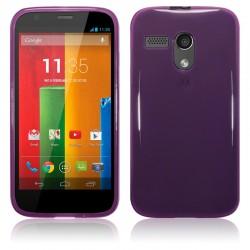 Coque pourpre translucide pour Motorola Moto G
