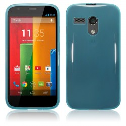 Coque bleu translucide pour Motorola Moto G