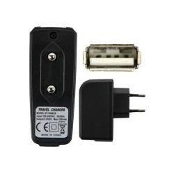 Chargeur secteur universel prise USB noir