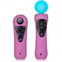 Coques roses pour manettes de détection de mouvements Sony PS3