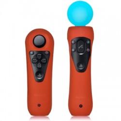 Coques oranges pour manettes de détection de mouvements Sony PS3