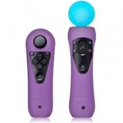 Coques mauves pour manettes de détection de mouvements Sony PS3