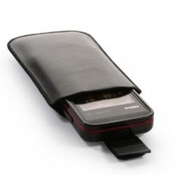 Housse noire taille large pour téléphone