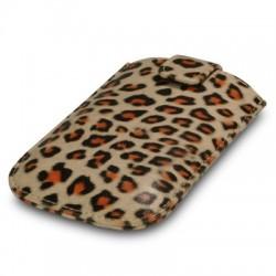 Housse simili cuir motifs léopard