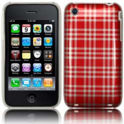 Coque rigide motifs tissus écossais pour iPhone 3