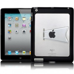 Coque noire avec pied pour iPad 2