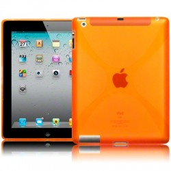 Coque gel orange pour iPad 2