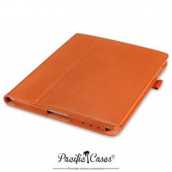 étui pour iPad 2/3/4 orange fonction stand