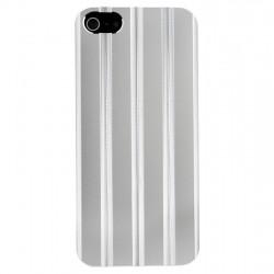 Coque en aluminium ciselé argent iPhone 5