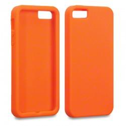 Coque en silicone orange pour iPhone 5