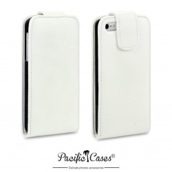 Etui blanc à clapet pour iPhone 5 par Pacific Cases®