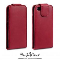 Etui rouge à clapet pour iPhone 5 par Pacific Cases®