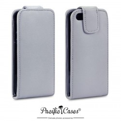 Etui gris à clapet pour iPhone 5 par Pacific Cases®
