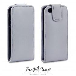 Etui gris à clapet pour iPhone 5 par Pacific Cases®