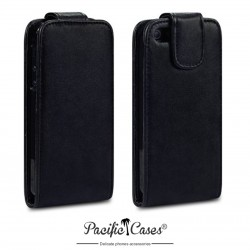 Etui noir à clapet pour iPhone 5 par Pacific Cases®