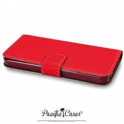 Etui pour iPhone 5 rouge ouverture folio