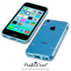 Coque bleue et transparente pour iPhone 5C