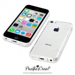 Coque blanche et transparente pour iPhone 5C