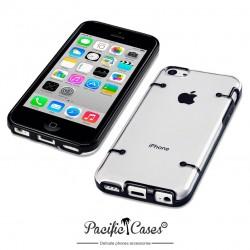Coque noire et transparente pour iPhone 5C
