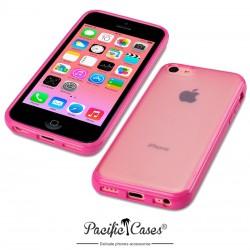 Coque rose et givre pour iPhone 5C