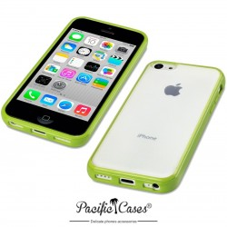Coque verte et givre pour iPhone 5C