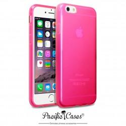Coque gel pour iPhone 6 rose translucide