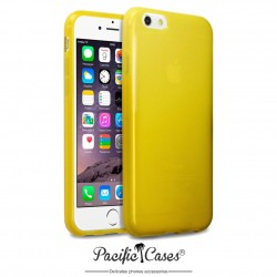 Coque gel pour iPhone 6 jaune transparent