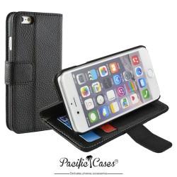étui pour iPhone 6 folio et fonction stand noir marque Pacific Cases®