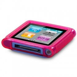 Coque gel rose pour lecteur MP3 Nano 6