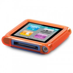 Coque gel orange pour lecteur MP3 Nano 6