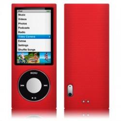 Coque silicone rouge pour iPod Nano 5