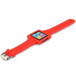 Bracelet montre orange pour Apple Nano 6