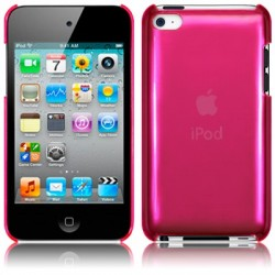 Coque fushia transparente pour iPod Touch 4