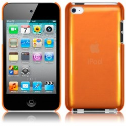 Coque cristal orange  pour iPod Touch 4