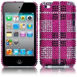Coque rigide avec diamants motifs écossais iPod Touch 4