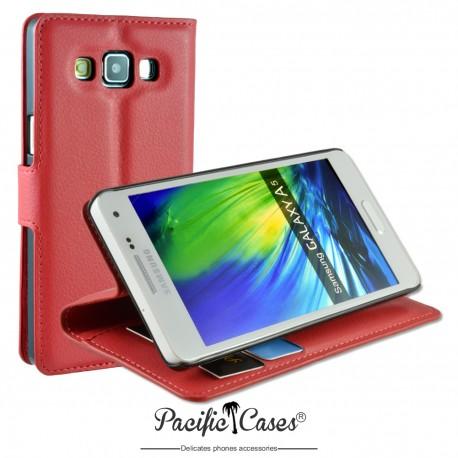 étui pour Samsung A5 ouverture folio et fonction stand par Pacific Cases® - rouge