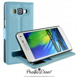 étui pour Samsung A5 ouverture folio et fonction stand par Pacific Cases® - bleu clair