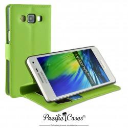 étui pour Samsung A5 ouverture folio et fonction stand par Pacific Cases® - vert