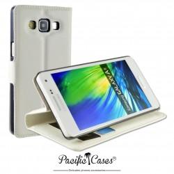 étui pour Samsung A5 ouverture folio et fonction stand par Pacific Cases® - blanc